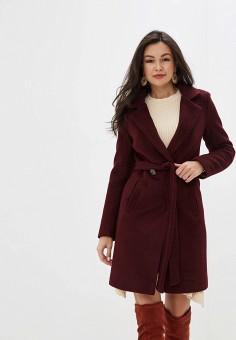 Пальто, TrendyAngel, цвет: бордовый. Артикул: TR015EWHRHR3. Одежда / Верхняя одежда / Пальто / Зимние пальто