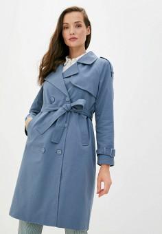 Плащ, TrendyAngel, цвет: синий. Артикул: TR015EWJXPZ5. Одежда / Верхняя одежда / Плащи и тренчи