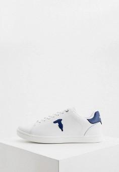 Кеды, Trussardi Jeans, цвет: белый. Артикул: TR016AMHSPB2.