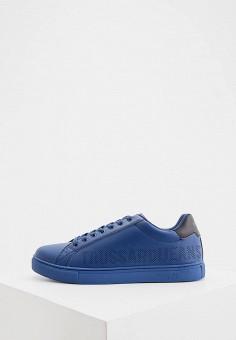 Кеды, Trussardi Jeans, цвет: синий. Артикул: TR016AMHSPB8.
