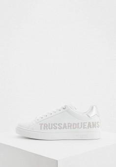 Кеды, Trussardi Jeans, цвет: белый. Артикул: TR016AWHSPD3.