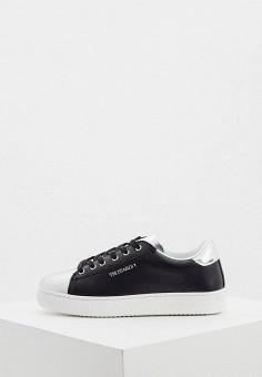 Кеды, Trussardi Jeans, цвет: черный. Артикул: TR016AWHSPE8.