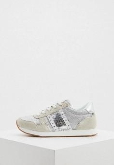 Кроссовки, Trussardi Jeans, цвет: серебряный. Артикул: TR016AWHSPF9.