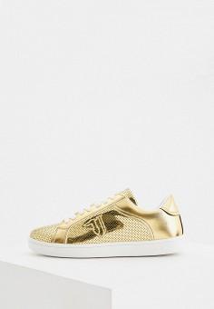 Кеды, Trussardi Jeans, цвет: золотой. Артикул: TR016AWHSPI1.