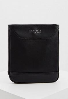Сумка, Trussardi Jeans, цвет: черный. Артикул: TR016BMHKUB4. Аксессуары