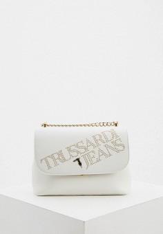 Сумка, Trussardi Jeans, цвет: белый. Артикул: TR016BWHKTN0.