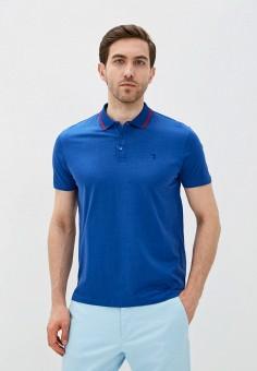 Поло, Trussardi Jeans, цвет: синий. Артикул: TR016EMHKTW9.