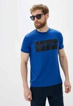 Футболка, Trussardi Jeans, цвет: синий. Артикул: TR016EMHKTZ6.