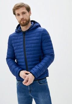 Куртка утепленная, Trussardi Jeans, цвет: синий. Артикул: TR016EMHKUA9.