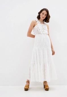 Платье, Trussardi Jeans, цвет: белый. Артикул: TR016EWHKUL8.