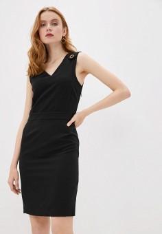 Платье, Trussardi Jeans, цвет: черный. Артикул: TR016EWHKUM2.