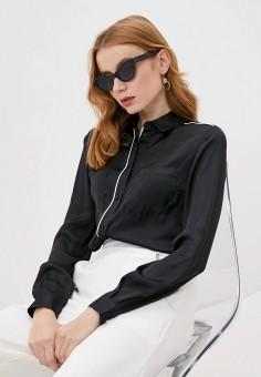 Блуза, Trussardi Jeans, цвет: черный. Артикул: TR016EWHKUN6.