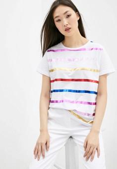 Футболка, Trussardi Jeans, цвет: белый. Артикул: TR016EWHKVC3. Одежда / Футболки и поло