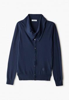 Кардиган, Trussardi Collection, цвет: синий. Артикул: TR031EMJVHA5. Одежда / Джемперы, свитеры и кардиганы / Кардиганы