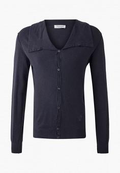 Кардиган, Trussardi Collection, цвет: серый. Артикул: TR031EMJVHA8. Одежда / Джемперы, свитеры и кардиганы / Кардиганы