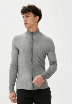 Кардиган, Trussardi Collection, цвет: серый. Артикул: TR031EMJVHB2. Одежда / Джемперы, свитеры и кардиганы / Кардиганы