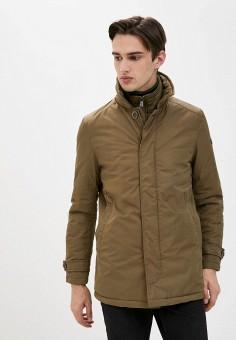Куртка утепленная, Trussardi Collection, цвет: хаки. Артикул: TR031EMKBUR9. Одежда / Верхняя одежда / Демисезонные куртки