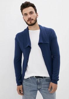 Кардиган, Trussardi Collection, цвет: синий. Артикул: TR031EMKBVB4. Одежда / Джемперы, свитеры и кардиганы / Кардиганы