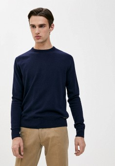 Джемпер, Trussardi Collection, цвет: синий. Артикул: TR031EMKBVC7. Одежда / Джемперы, свитеры и кардиганы / Джемперы и пуловеры