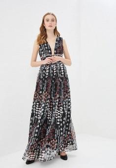 Платье, True Decadence, цвет: черный. Артикул: TR033EWDFVV1. Одежда / Платья и сарафаны / Вечерние платья