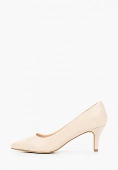 Туфли, Tulipano, цвет: бежевый. Артикул: TU005AWIPOV8. Обувь / Туфли / Лодочки