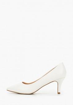 Туфли, Tulipano, цвет: белый. Артикул: TU005AWIPOV9. Обувь / Туфли / Лодочки