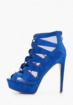 Ботильоны, Tulipano, цвет: синий. Артикул: TU005AWIXGU4. Обувь / Ботильоны