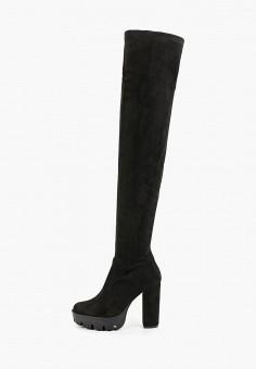 Ботфорты, Tulipano, цвет: черный. Артикул: TU005AWKHYF7. Обувь / Сапоги / Ботфорты