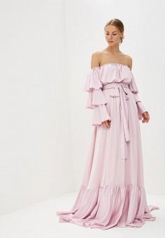 Платье, Tutto Bene, цвет: розовый. Артикул: TU009EWATUE4.