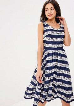 Платье, Tutto Bene, цвет: синий. Артикул: TU009EWBLIL9.