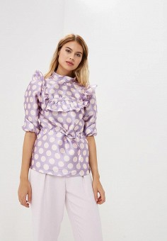 Блуза, Tutto Bene, цвет: фиолетовый. Артикул: TU009EWBQCE7.