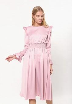 Платье, Tutto Bene, цвет: розовый. Артикул: TU009EWDBUQ9.