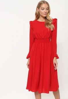 Платье, Tutto Bene, цвет: красный. Артикул: TU009EWDDSQ3.