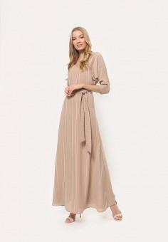 Платье, Tutto Bene, цвет: бежевый. Артикул: TU009EWDNQE6.