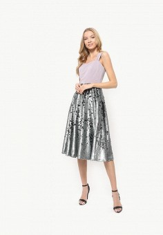 Платье, Tutto Bene, цвет: серебряный. Артикул: TU009EWDNQS3.