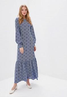 Платье, Tutto Bene, цвет: синий. Артикул: TU009EWDZYM3.