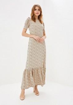 Платье, Tutto Bene, цвет: бежевый. Артикул: TU009EWEHOV7.