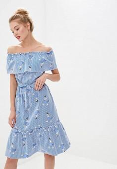 Платье, Tutto Bene, цвет: синий. Артикул: TU009EWEPXK8.