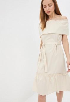 Платье, Tutto Bene, цвет: бежевый. Артикул: TU009EWEPXK9.