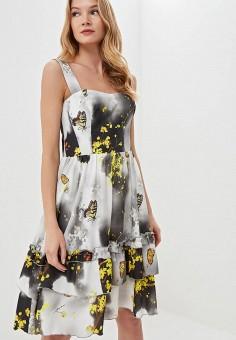 Платье, Tutto Bene, цвет: серый. Артикул: TU009EWEUFT4.