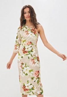 Платье, Tutto Bene, цвет: бежевый. Артикул: TU009EWFCTQ9.