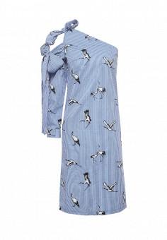 Платье, Tutto Bene, цвет: синий. Артикул: TU009EWRXQ29.