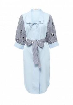 Платье, Tutto Bene, цвет: голубой. Артикул: TU009EWTCT94.
