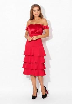 Платье, Tutto Bene, цвет: красный. Артикул: TU009EWYPH88.