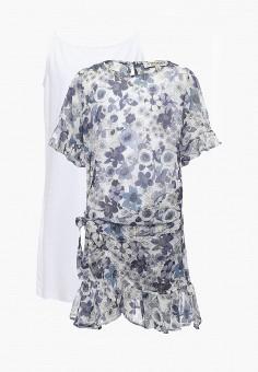 Платье, Twin-Set Simona Barbieri, цвет: синий. Артикул: TW005EGAOZS0. Девочкам / Одежда / Платья и сарафаны
