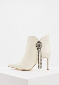 Ботильоны, Twinset Milano, цвет: белый. Артикул: TW008AWHJUW1. Обувь / Ботильоны