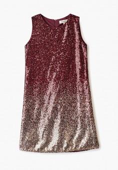 Платье, Twinset Milano, цвет: бордовый. Артикул: TW008EGFZWM4. Девочкам / Одежда / Платья и сарафаны
