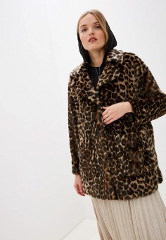 Шуба, Twinset Milano, цвет: коричневый. Артикул: TW008EWFMXH0. Одежда / Верхняя одежда / Шубы и дубленки
