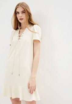 Платье, Twinset Milano, цвет: бежевый. Артикул: TW008EWHJUL6. Одежда / Платья и сарафаны / Вечерние платья