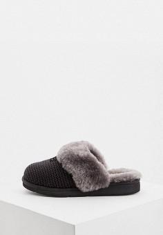 Тапочки, UGG, цвет: черный. Артикул: UG002AWFQNA3. Обувь / Домашняя обувь